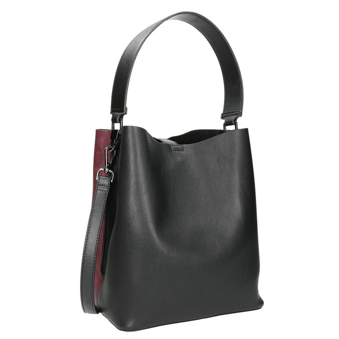 Dwukolorowa torba damska bata, czarny, 961-6173 - 13