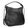 Czarna torebka damska wstylu hobo bata, czarny, 961-6177 - 13