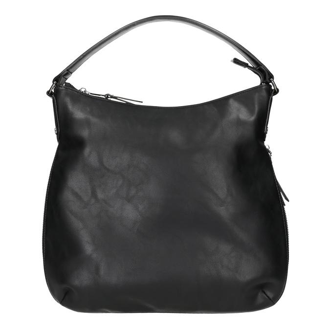 Czarna torebka damska wstylu hobo bata, czarny, 961-6177 - 26
