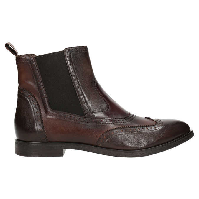 Skórzane obuwie typu chelsea ze ornamentami brogue bata, brązowy, 596-4683 - 26