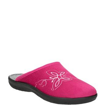Różowe kapcie damskie bata, czerwony, 579-5621 - 13