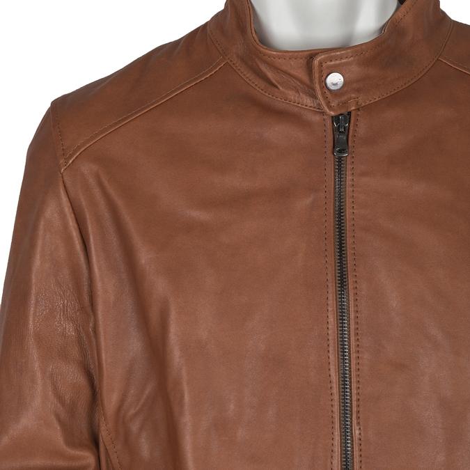 Skórzana kurtka męska bata, brązowy, 974-0154 - 16