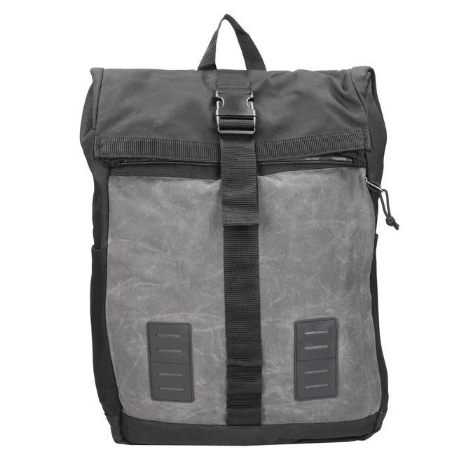 Szary plecak unisex zklamrą vans, szary, 969-2095 - 26