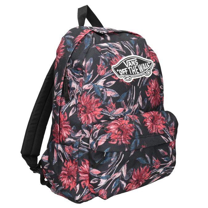 Plecak wkwiaty vans, czarny, 969-6082 - 13