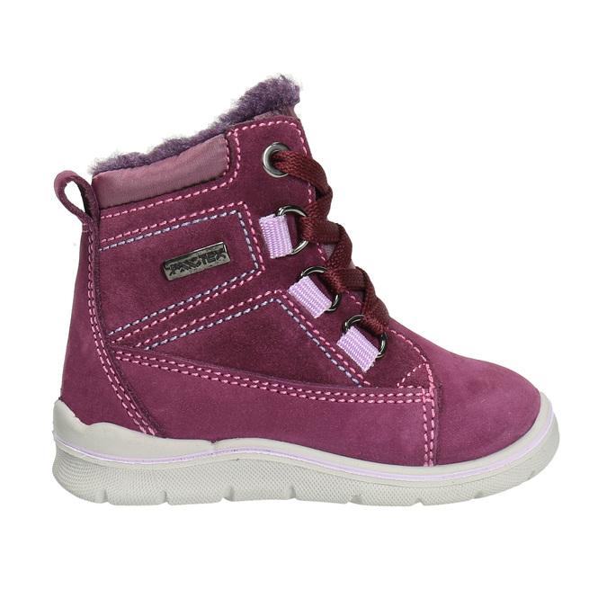 Dziecięce zimowe buty ze skóry bubblegummer, fioletowy, 196-5600 - 15