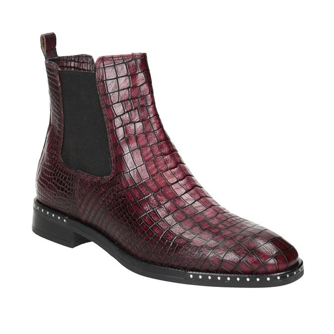 Skórzane obuwie damskie typu chelsea bata, czerwony, 596-5678 - 13