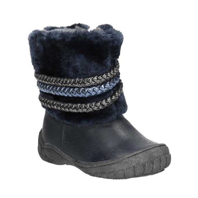Zimowe buty dziecięce zociepliną bubblegummer, niebieski, 191-9620 - 13