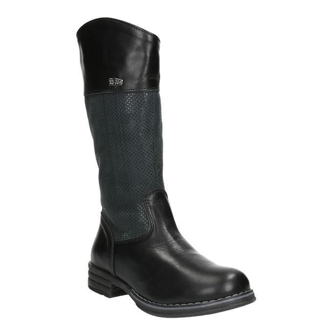 Kozaki dziecięce zociepliną bata, czarny, 394-6195 - 13
