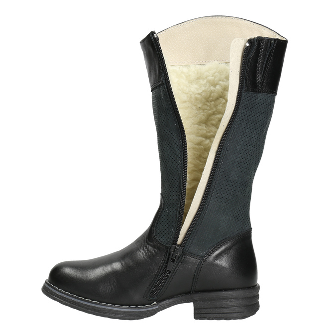 Kozaki dziecięce zociepliną bata, czarny, 394-6195 - 26
