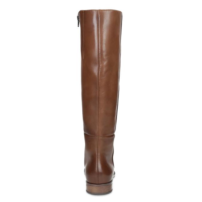 Brązowe skórzane kozaki bata, brązowy, 594-4637 - 15