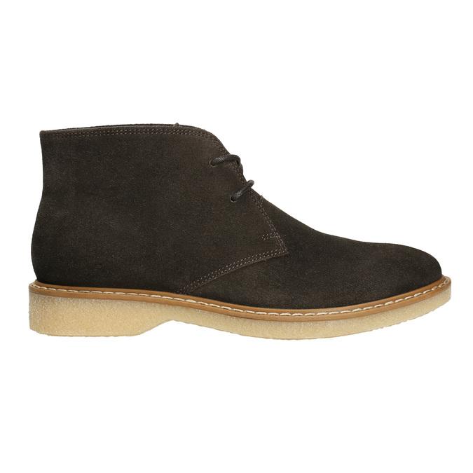 Skórzane damskie desert boots bata, brązowy, 593-4608 - 15