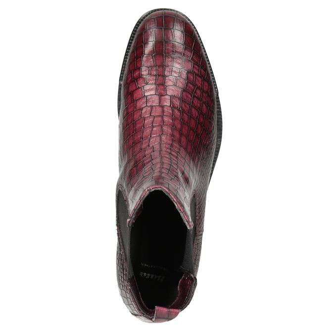 Skórzane obuwie damskie typu chelsea bata, czerwony, 596-5678 - 15