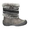 Zimowe buty dziecięce zfuterkiem bubblegummer, szary, 191-2620 - 15
