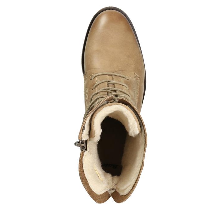 Skórzane buty sznurowane damskie bata, brązowy, 596-4663 - 15