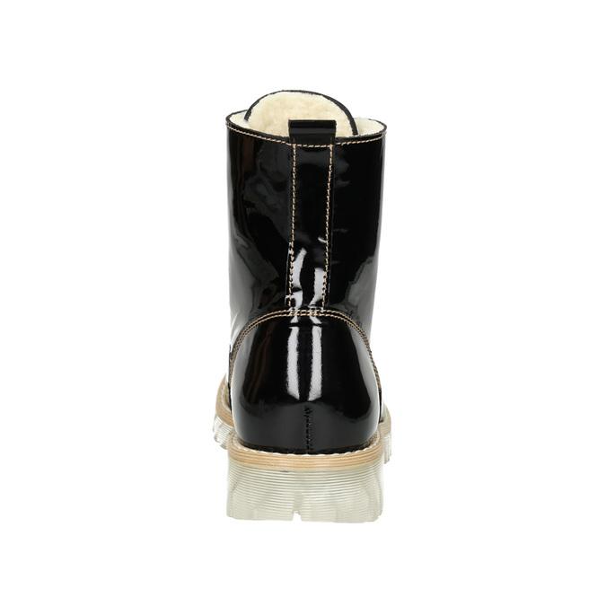 Lakierowane botki na grubej podeszwie weinbrenner, czarny, 598-6604 - 16