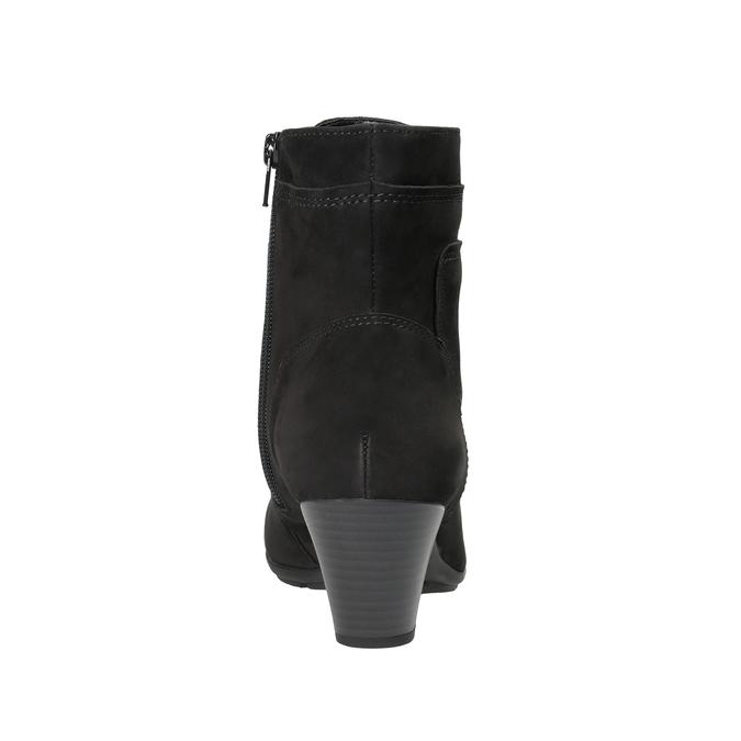 Sznurowane buty ze skóry za kostkę gabor, czarny, 726-6120 - 16