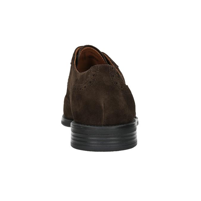 Skórzane półbuty męskie ze zdobieniami brogue vagabond, brązowy, 823-4017 - 16