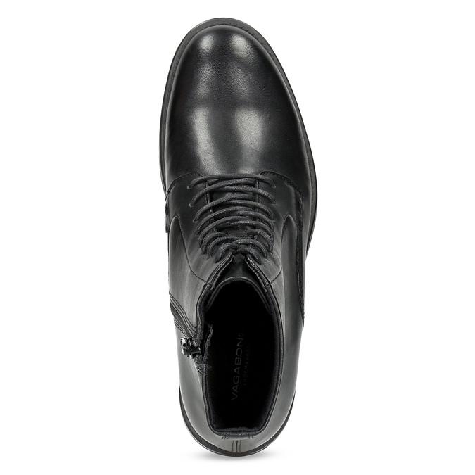 Skórzane botki damskie vagabond, czarny, 524-6010 - 17