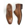 Skórzane półbuty typu oksfordy ze zdobieniami bata, brązowy, 826-3690 - 18