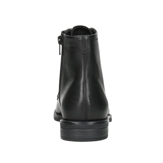 Skórzane botki damskie vagabond, czarny, 524-6010 - 16