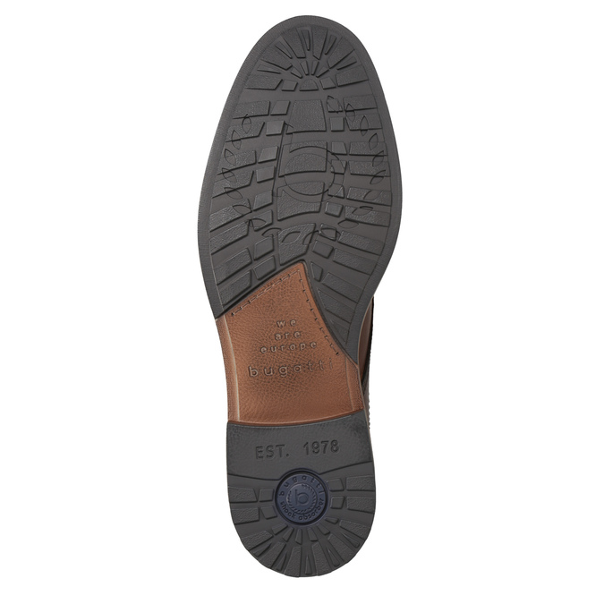 Skórzane buty męskie za kostkę bugatti, brązowy, 826-3005 - 17