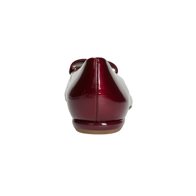 Skórzane baleriny damskie hogl, czerwony, 528-5072 - 16