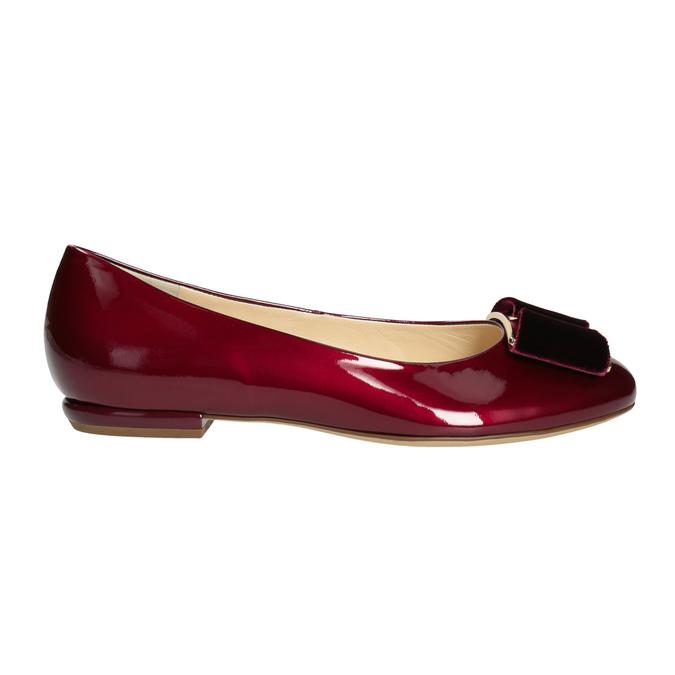 Skórzane baleriny damskie hogl, czerwony, 528-5072 - 26