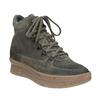 Skórzane obuwie damskie na platformie bata, szary, 596-2673 - 13