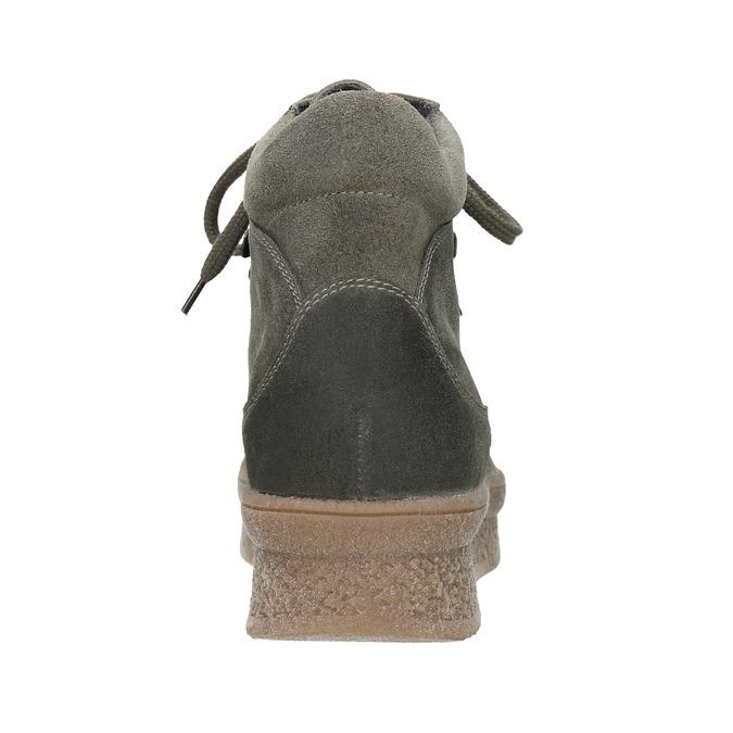 Skórzane obuwie damskie na platformie bata, szary, 596-2673 - 16