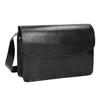 Czarna skórzana torebka typu crossbody vagabond, czarny, 964-6086 - 13