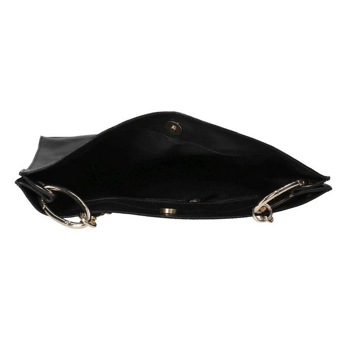 Czarna skórzana torba złańcuszkiem vagabond, czarny, 964-6087 - 15