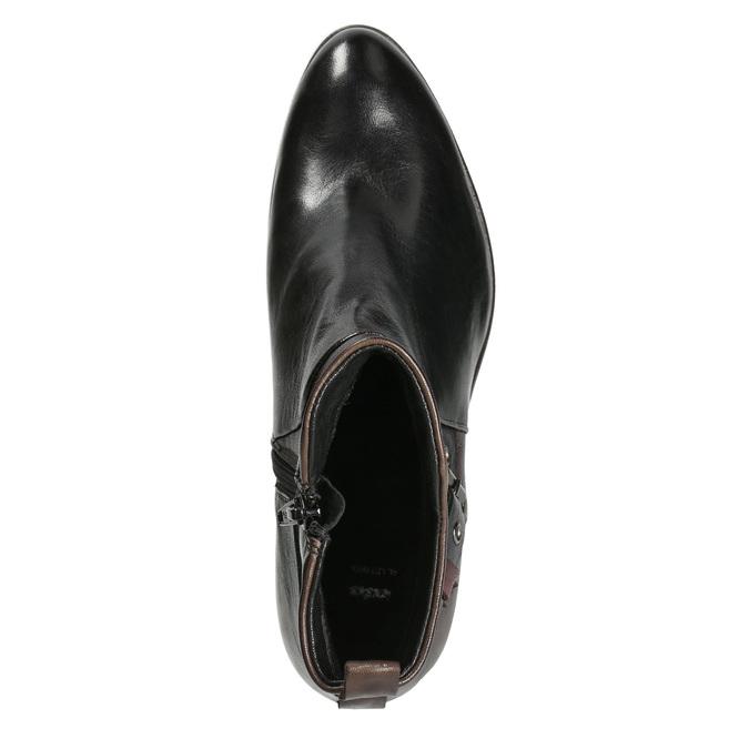 Botki damskie zklamrami bata, czarny, 696-6651 - 15