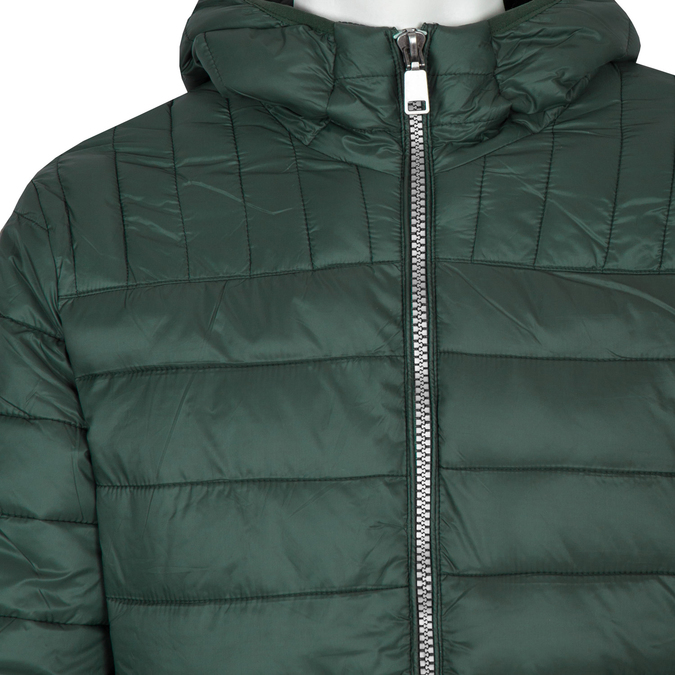 Pikowana kurtka męska zkapturem bata, zielony, 979-7143 - 16