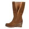Brązowe kozaki ze skóry bata, brązowy, 793-4607 - 26