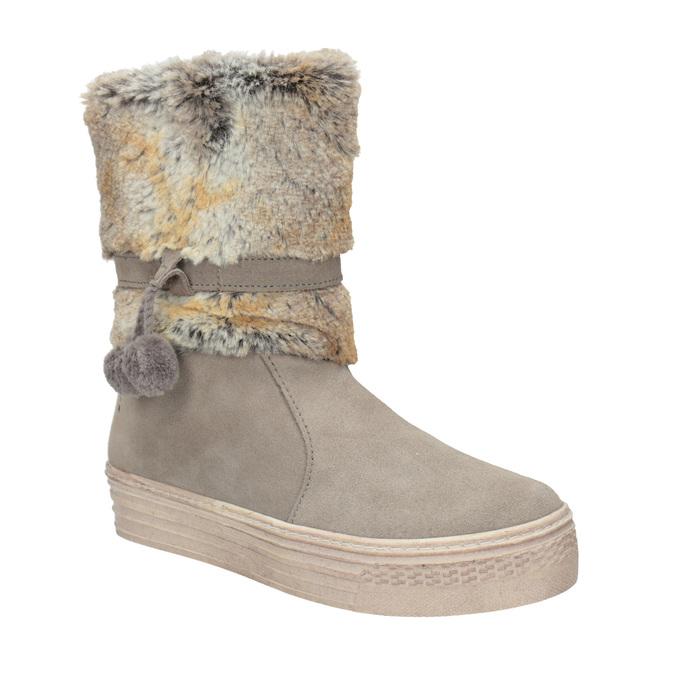 Zimowe buty dziecięce zfuterkiem primigi, beżowy, 393-8015 - 13