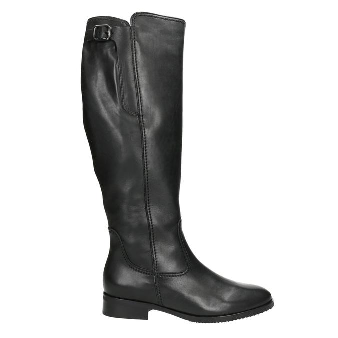 Czarne skórzane kozaki damskie gabor, czarny, 694-6164 - 26