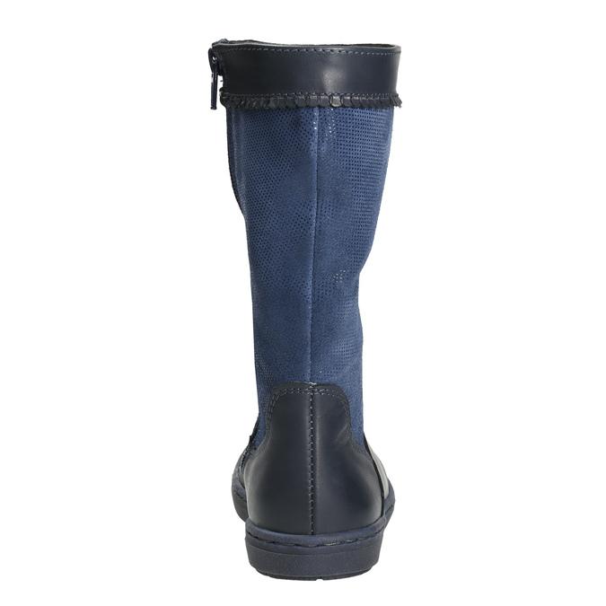 Granatowe kozaki dziewczęce bata, niebieski, 394-9196 - 17