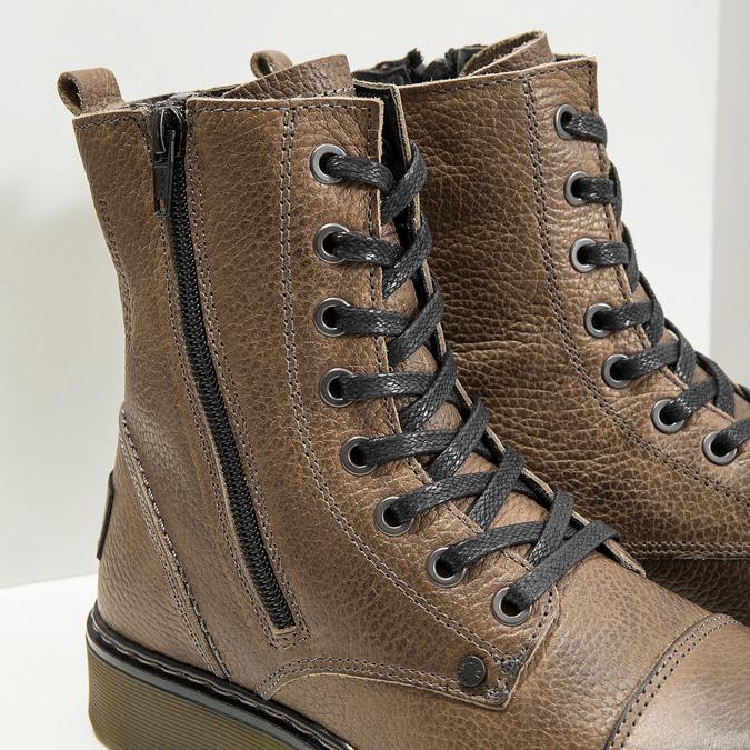 Skórzane botki damskie bata, brązowy, 596-7681 - 14