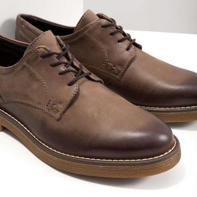 Brązowe półbuty ze skóry bata, brązowy, 826-4620 - 14