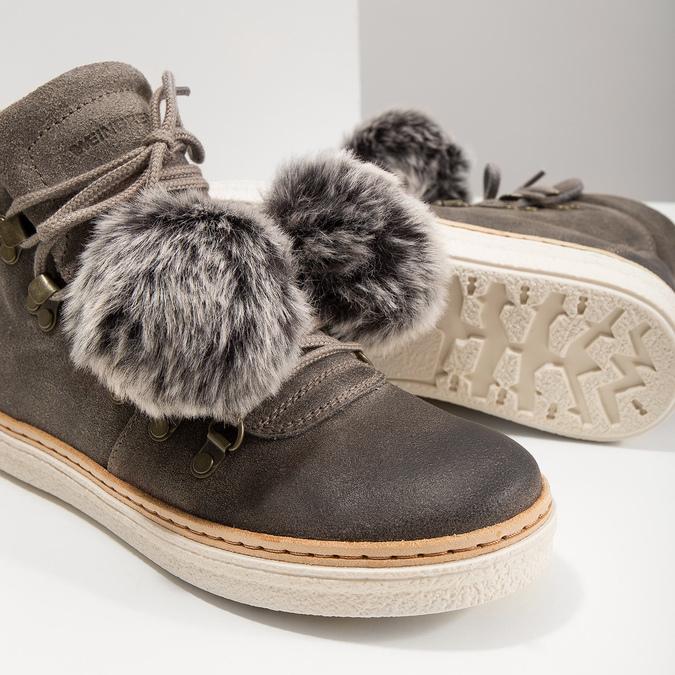 Zimowe sznurowane buty damskie weinbrenner, szary, 596-2674 - 18