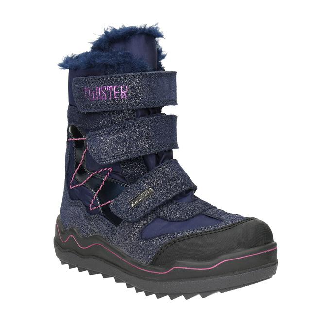 Zimowe buty dziewczęce na rzepy mini-b, niebieski, 299-9613 - 13