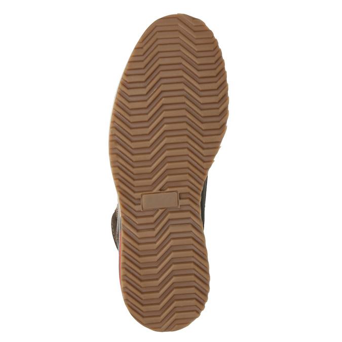 Skórzane zimowe buty męskie bata, brązowy, 896-4676 - 19
