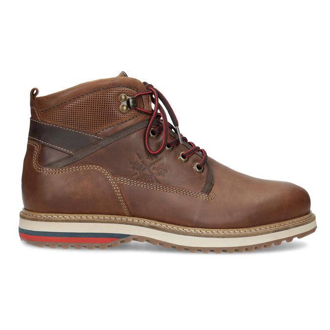 Zimowe obuwie męskie za kostkę bata, brązowy, 896-3677 - 19
