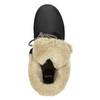 Buty za kostkę z kożuszkiem bata, czarny, 591-6618 - 26