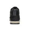 Skórzane trampki męskie zociepliną bata, czarny, 846-6646 - 15