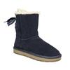 Damskie skórzane walonki bata, niebieski, 593-9604 - 13