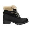 Buty za kostkę z kożuszkiem bata, czarny, 591-6618 - 15