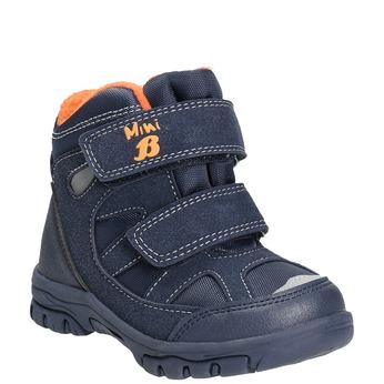 Zimowe buty dziecięce na rzepy mini-b, niebieski, 291-9626 - 13