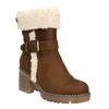Zimowe buty damskie zklamrami bata, brązowy, 699-4637 - 13