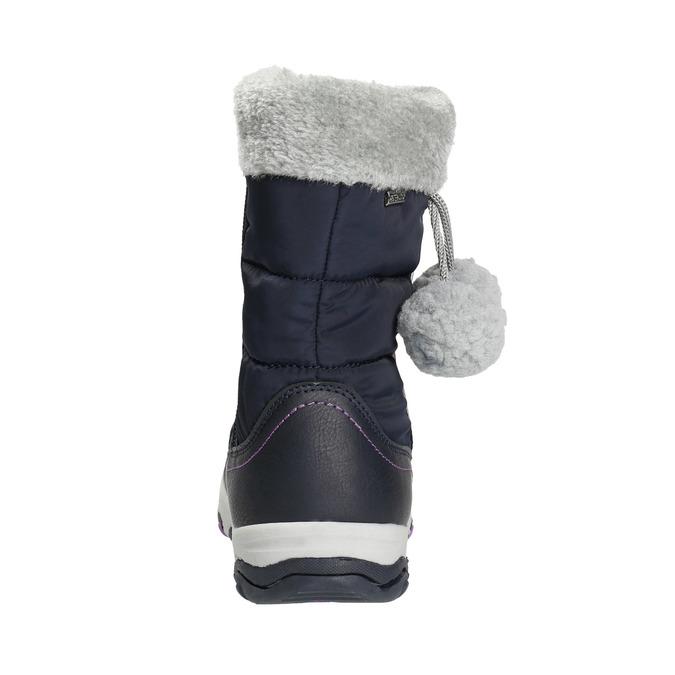 Śniegowce dziewczęce zpomponami mini-b, niebieski, 399-9656 - 17